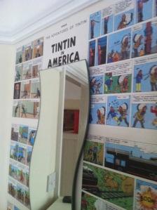 Tintin wall
