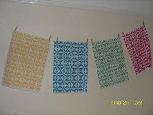 Screenprinted tea-towels