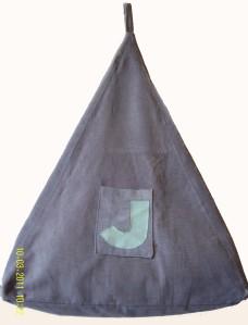Grey cord beanbag