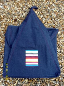 Stripy pocket beanbag