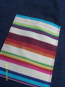 Stripy pocket