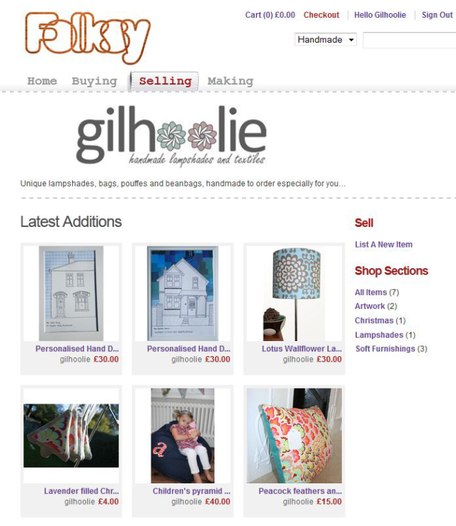 gilhoolie shop on folksy