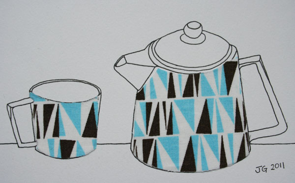 retro teapot and cup