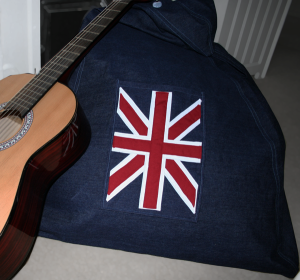 Union jack pocket beanbag