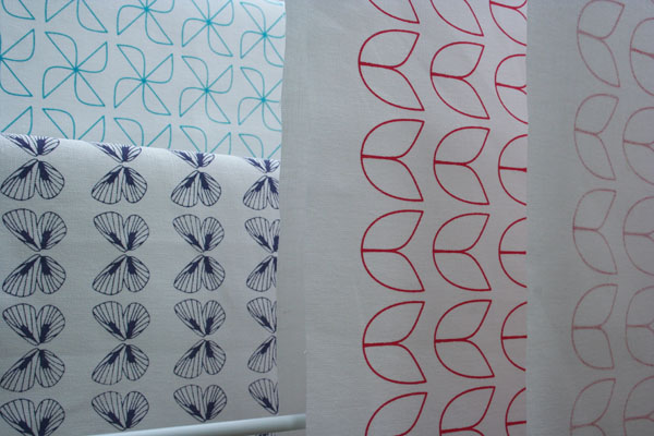 Screenprinted gilhoolie patterns for lampshades