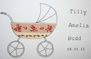 gilhoolie baby girl card