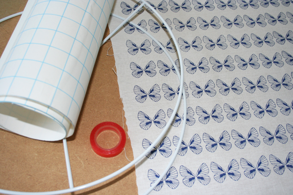 Making butterfly lampshade