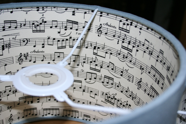 Musical lampshades close-up