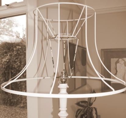 Bare lampshade frame
