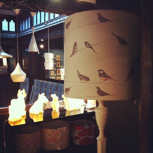 Libertys bird lampshade
