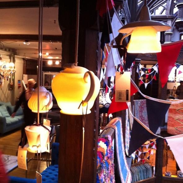 Liberty tea pot lamps