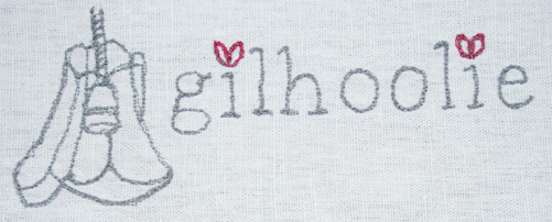 gilhoolie logo machine embroidered2