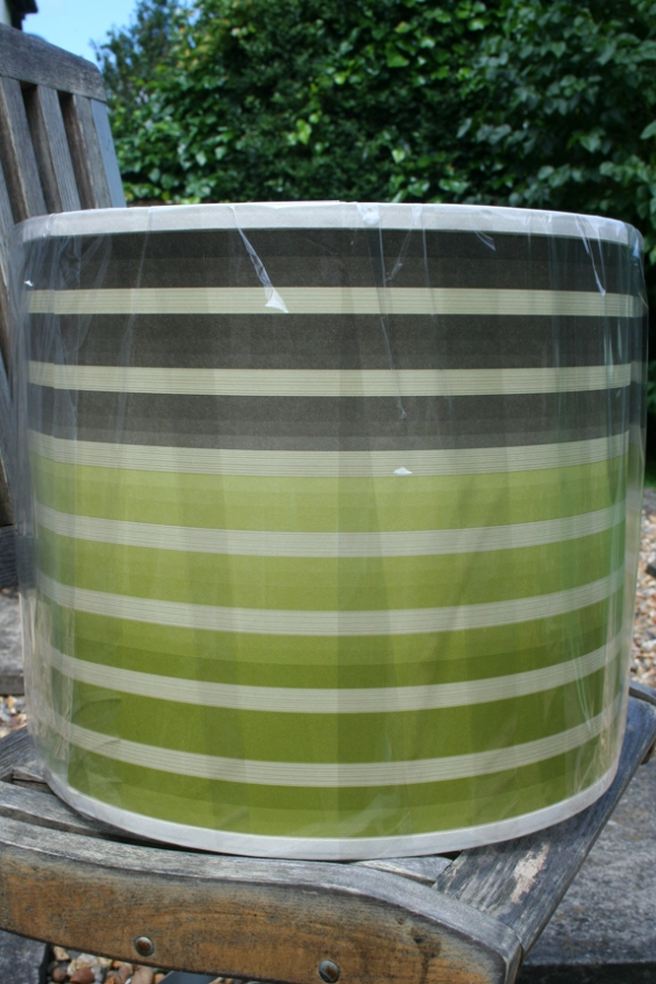 stripy wallpaper lampshade