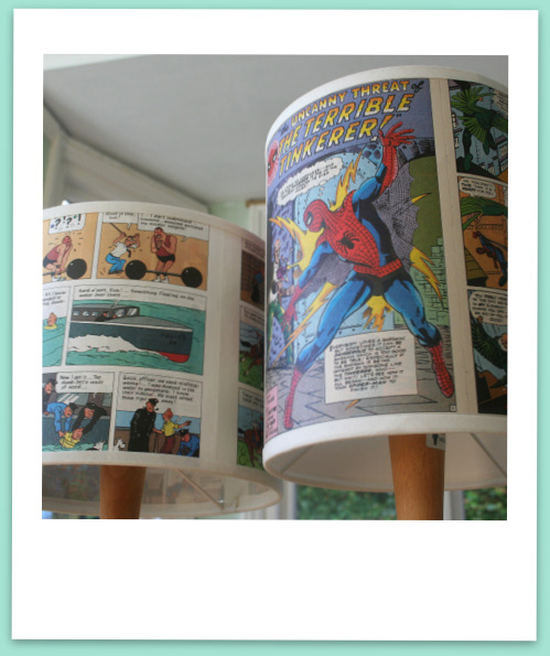 comic book lampshades