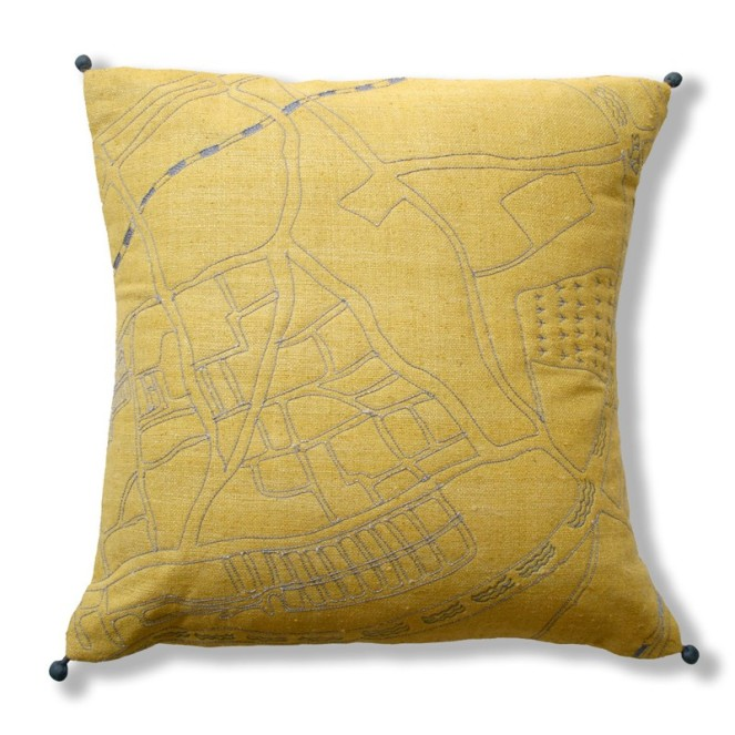 Ekta Kaul Chelsea map cushion
