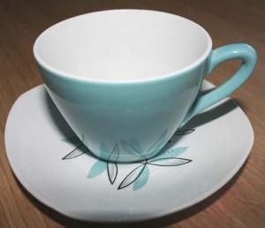 midwinter tea cup and saucer