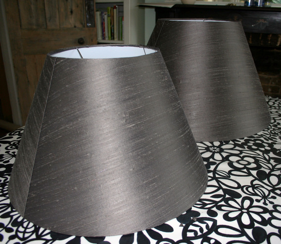 Cone lampshades after