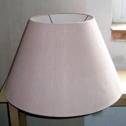 Cone lampshade before