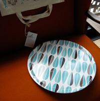 Isak leaf round tray