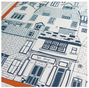 Jessica Hogarth Designs coastal cottages illustration