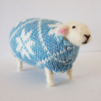 Mary Kilvert handmade woolly sheep - snowflake
