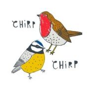 New House Textiles Charlotte Farmer chirp coasters