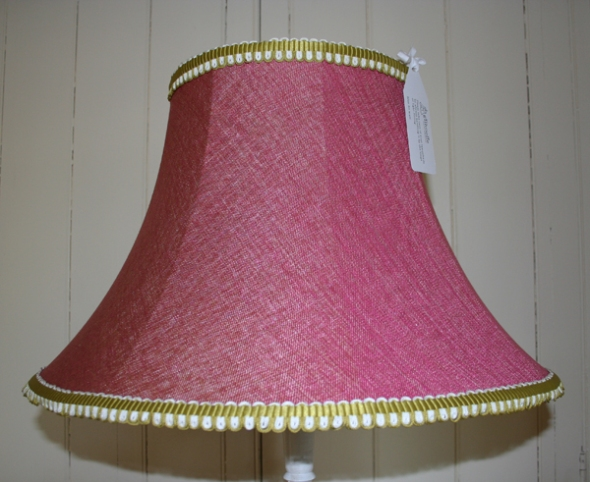 Large hand-stitched empire lampshade