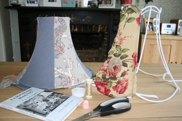 2 paneled lampshades