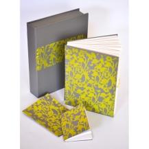Ella Johnston Art grey and yellow flora and fauna gift set