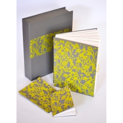Ella Johnston Art grey and yellow flora and fauna gift set