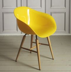 Graham and Green waterfall armchair in yellow