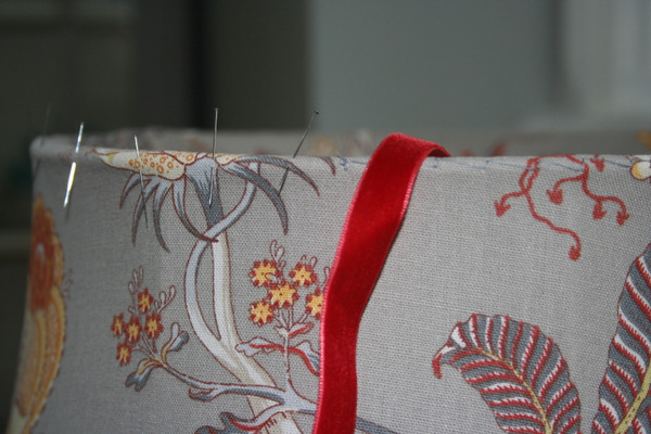 grey stitching and ribbon