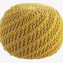 Habitat yellow pouf