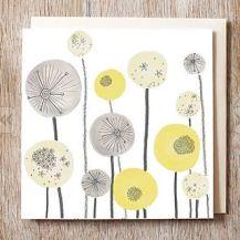 Jo Clark Design seedhead spheres card on Notonthe highstreet.com
