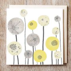 Jo Clark Design seedhead spheres card on Notonthe highstreet.com