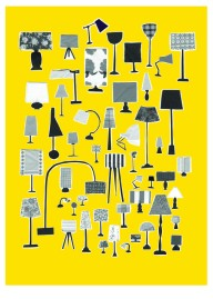 Katrine Brosnan fifty shades of grey on yellow A3 print on folksy