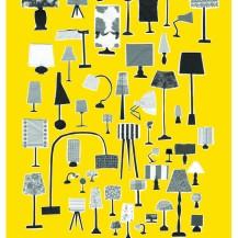 Katrine Brosnan fifty shades of grey on yellow A3 print on folksy