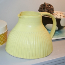 Yellow jug by Kate Garwood on folksy