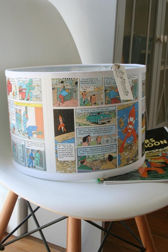 Tintin on chair