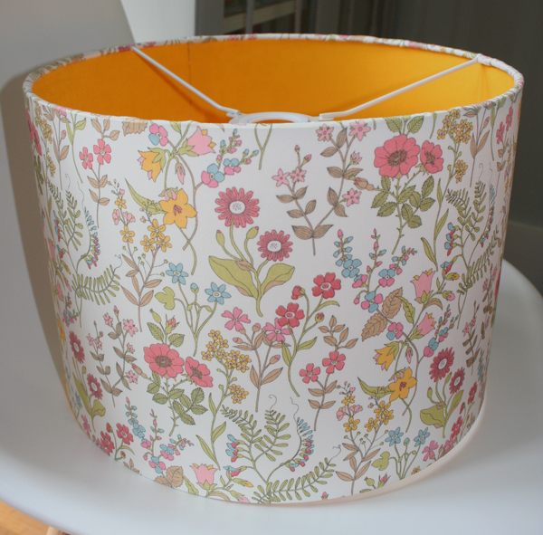 yellow lined liberty lampshade