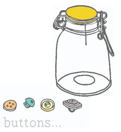 buttons and button jar