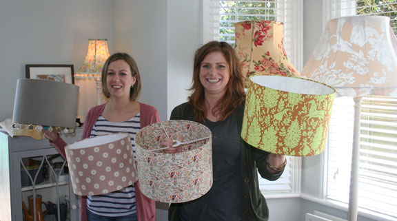 Happy lampshade lesson!