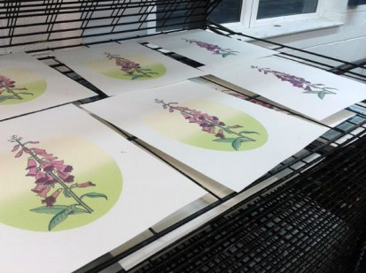 prints-drying