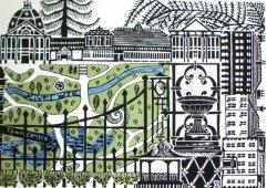 Zoe Badger gardens print