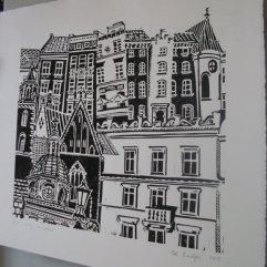 Zoe Badger London buildings print