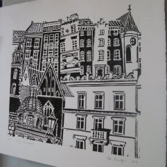 Zoe Badger London buildings print