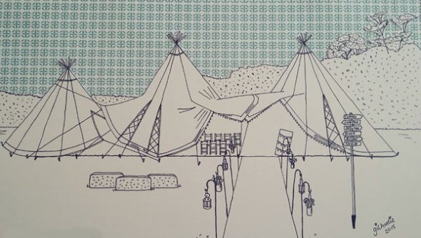 Teepee-drawing