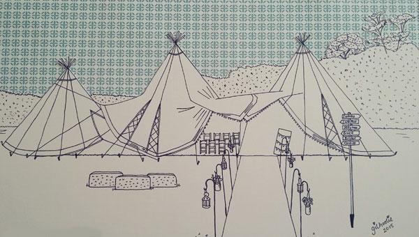 Teepee-drawing