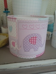 Pink elephant lampshade