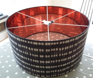 Copper lined lampshade